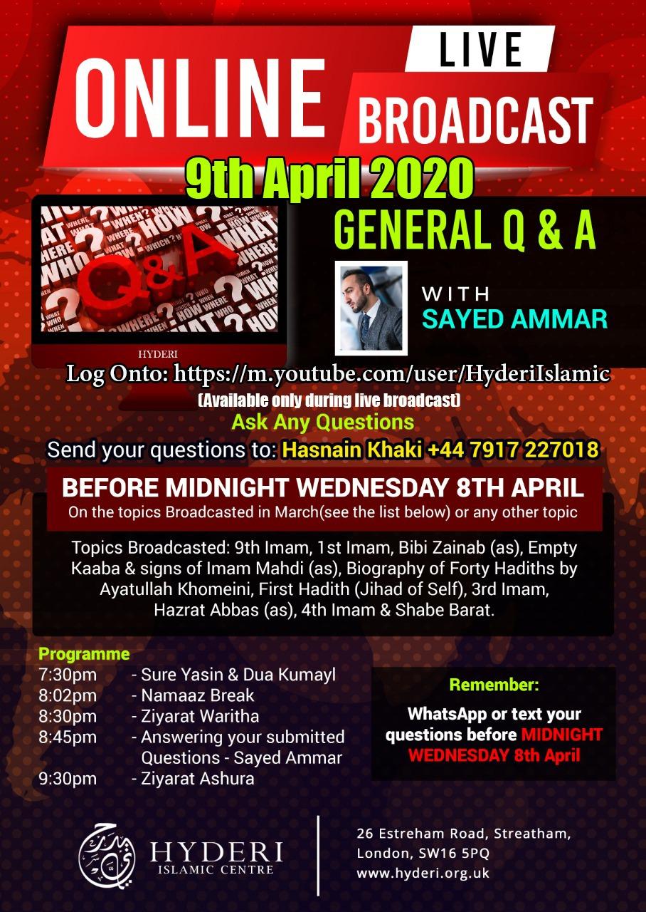 thursday 9th April